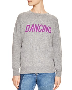 Sandro - Figlio Wool & Cashmere Dancing Graphic Sweatshirt