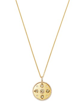 Kiki McDonough - 18K Yellow Gold Jemima Lemon Quartz & Diamond Pendant Necklace, 18""