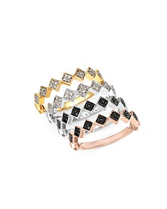 Bloomingdale's Diamond Geometric Stacking Ring in 14K Gold, 0.10 ct. t.w. - 100% Exclusive _0