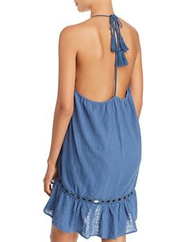 Surf Gypsy - Embroidered Trim Gauzy Dress Swim Cover-Up