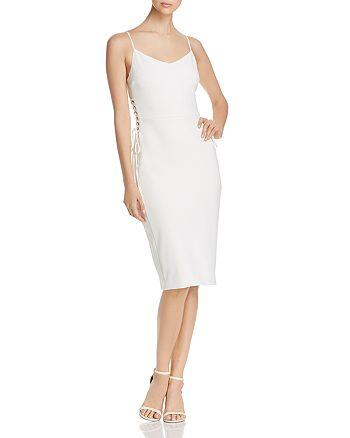 1.STATE - Lace-Up Side Sheath Dress