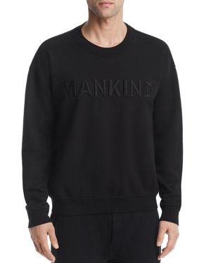 7 For All Mankind Embossed Logo Crewneck Sweatshirt