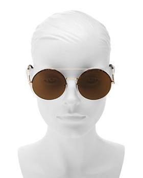 Bottega Veneta - Women's Brow Bar Round Sunglasses, 56mm