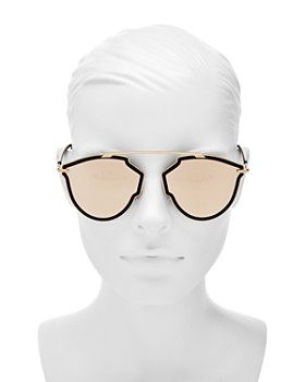 Dior - Women's Sorealrise Mirrored Brow Bar Round Sunglasses, 55mm