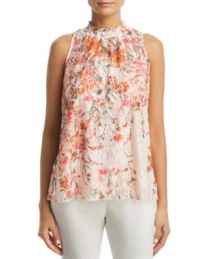 STATUS BY CHENAULT PRINTED FLORAL LACE TOP - 100% EXCLUSIVE