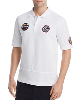 McQ Alexander McQueen - Upcycled Patches Pique Polo Shirt