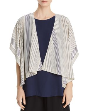 STRIPED SILK KIMONO JACKET - 100% EXCLUSIVE