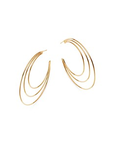Moon & Meadow - 14K Yellow Gold Polished Triple Open Hoop Earrings - 100% Exclusive