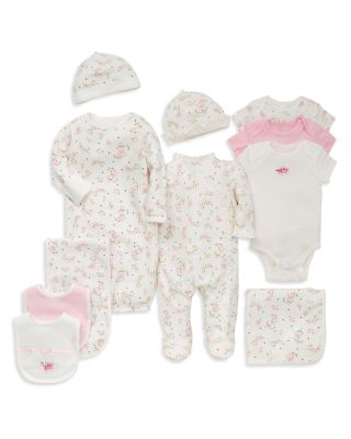 Girls' Vintage Rose Footie & Cap - Baby