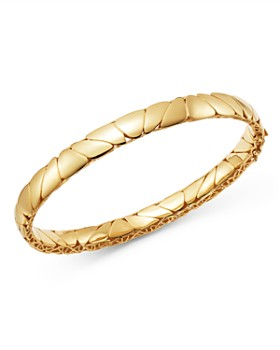 Bloomingdale's - Polished Pebbled Bangle Bracelet in 14K Yellow Gold - 100% Exclusive