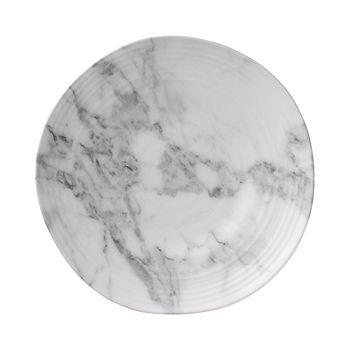Merritt - White Marble Melamine Dinner Plate