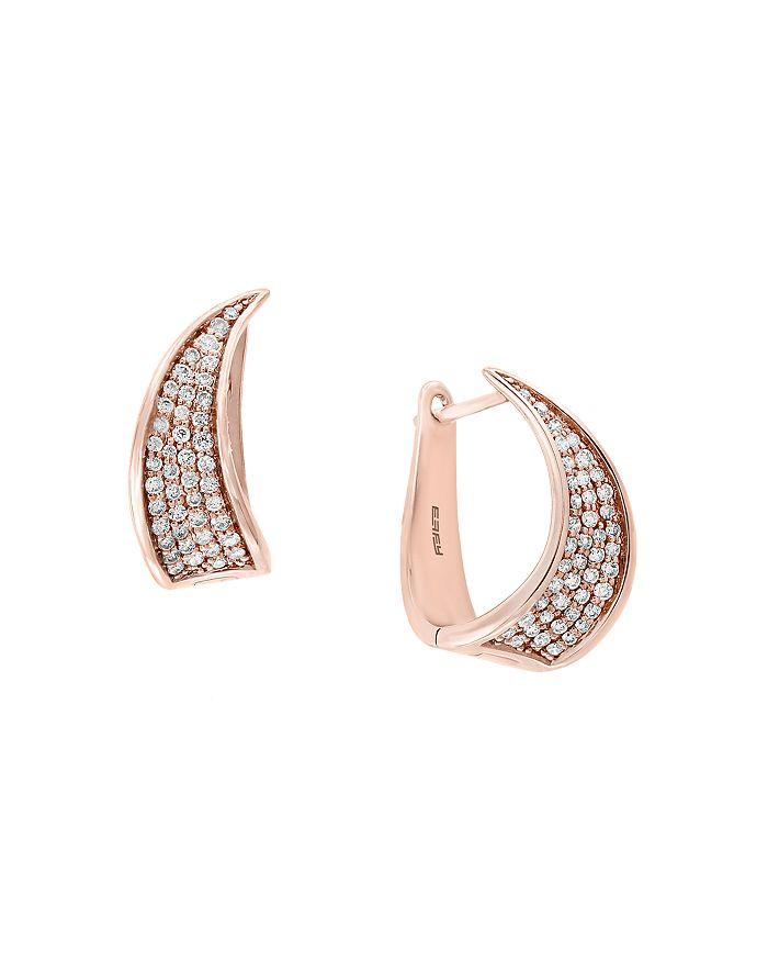 Bloomingdale's - Pavé Diamond Huggie Earrings in 14K Rose Gold, 0.40 ct. t.w. - 100% Exclusive