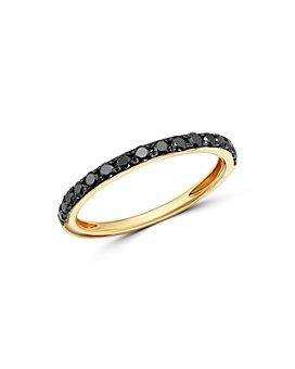 Bloomingdale's - Black Diamond Stacking Ring in 14K Yellow Gold, 0.33 ct. t.w. - 100% Exclusive