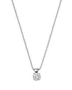 Diamond Solitaire Pendant in 18K White Gold, 0.30-0.75 ct. t.w. - 100% Exclusive - Bloomingdale's_0