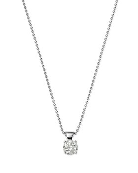 Bloomingdale's - Diamond Solitaire Pendant in 18 Kt. White Gold, 0.50 ct t.w. and 0.75 ct. t.w. - 100% Exclusive