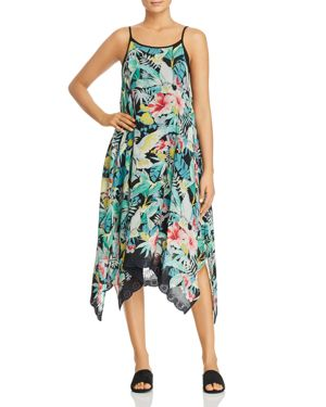 Johnny Was Lomi Floral-Print Midi Tank Dress