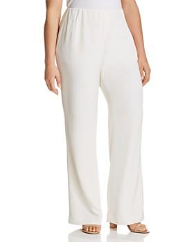 Lafayette 148 New York Plus - Stretch-Silk Studio Pants