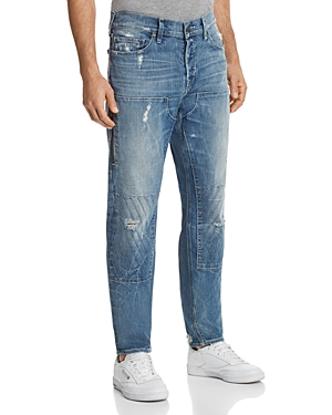 True Religion Workwear Relaxed Fit Jeans in Faded Blue