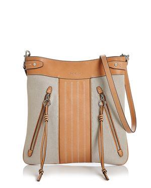 Tory Burch Moto Swingpack Canvas & Leather Crossbody 2907695