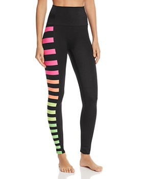 K-Deer - Color-Block Side-Stripe Ankle Leggings - 100% Exclusive