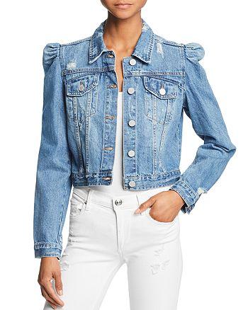 Cropped Bloomingdale's Jacket Denim Blanknyc Puff Sleeve fqwEES