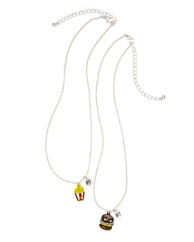 Capelli - Girls' BFF Hamburger & Fries Necklaces, Set of 2