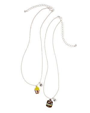 Capelli Bff Hamburger  Fries Necklaces Set of 2