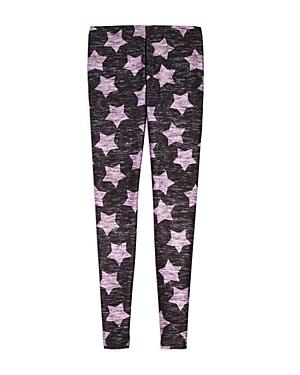Terez Girls Heathered Pink Star Leggings  Little Kid