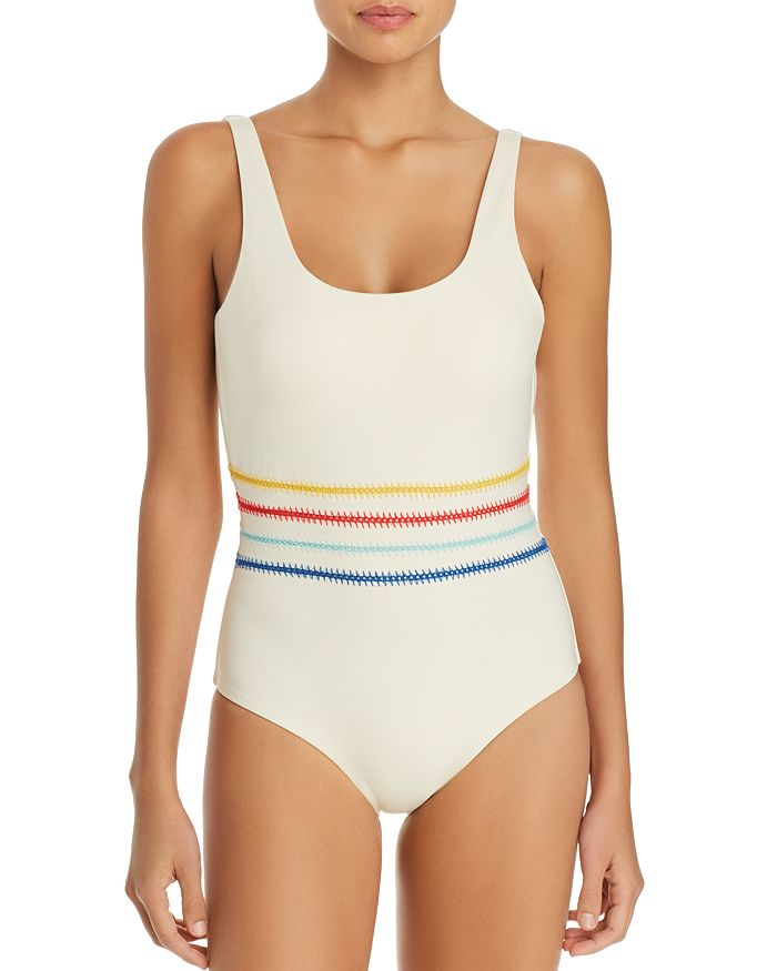 46f382c6e0 Dolce Vita Kokomo Embroidered One Piece Swimsuit | Bloomingdale's
