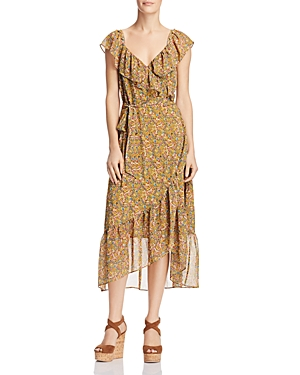 Rebecca Minkoff Jessica Ruffled Floral-Print Dress