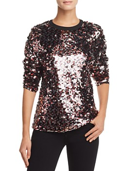 McQ Alexander McQueen - Sequined Top
