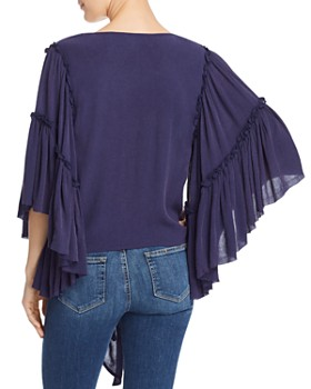 Band of Gypsies - Bell-Sleeve Tie-Front Top