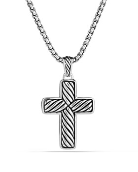 David Yurman - Exotic Stone Cross with Black Onyx