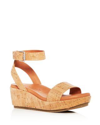 Morrie Cork Platform Wedge Sandals