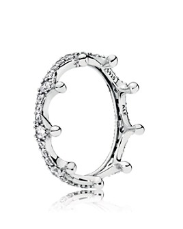 Pandora - Sterling Silver & Cubic Zirconia Enchanted Crown Ring