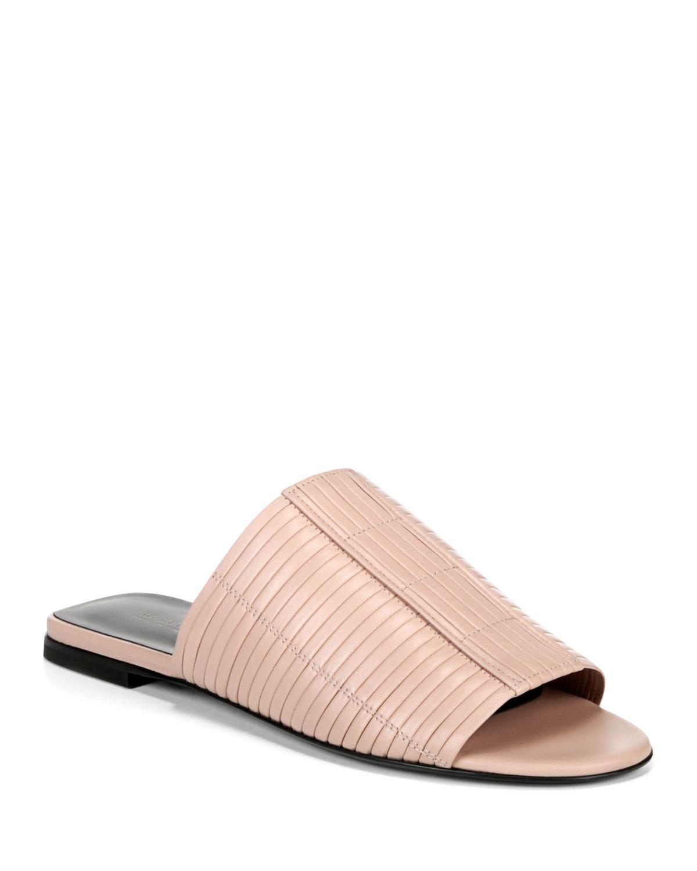 Via Spiga Women's Harlotte Leather Slide Sandals