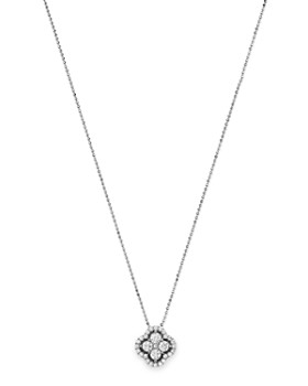 Bloomingdale's - Diamond Cluster Pendant Necklace in 14K White Gold, .75 ct. t.w. - 100% Exclusive