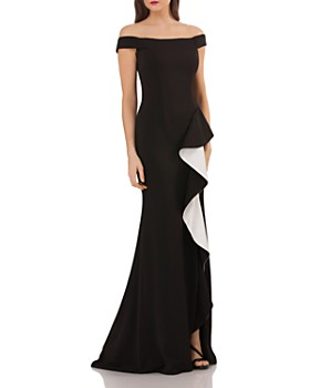 Carmen Marc Valvo Infusion - Off-the-Shoulder Gown