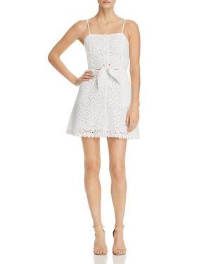 Lost + Wander Bianca Tie-Front Lace Mini Dress