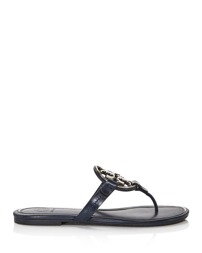 5e856befe78f Tory Burch - Women s Metal Miller Leather Thong Sandals