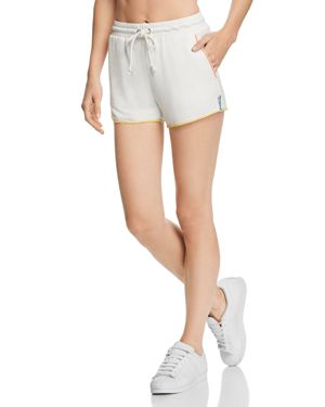 HONEY PUNCH Stitched Shorts in White