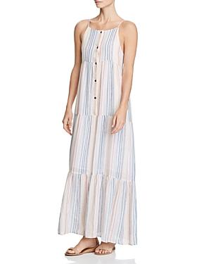 db3535bb3da Splendid Arco Iris Striped Shirting Tiered Maxi Dress In Multi ...
