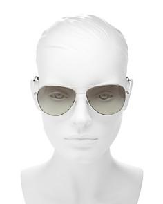 Tory Burch - Women's Brow Bar Aviator Sunglasses, 59mm