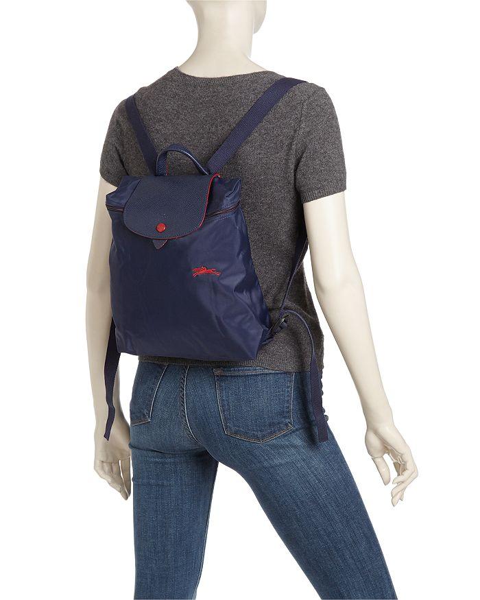 Le Pliage Club Nylon Backpack In Gun Metal/silver