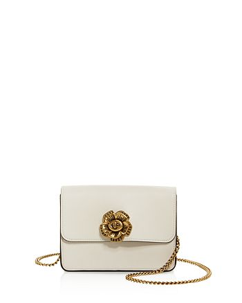 27452c463d3f COACH Tea Rose Turn-Lock Bowery Leather Crossbody | Bloomingdale's