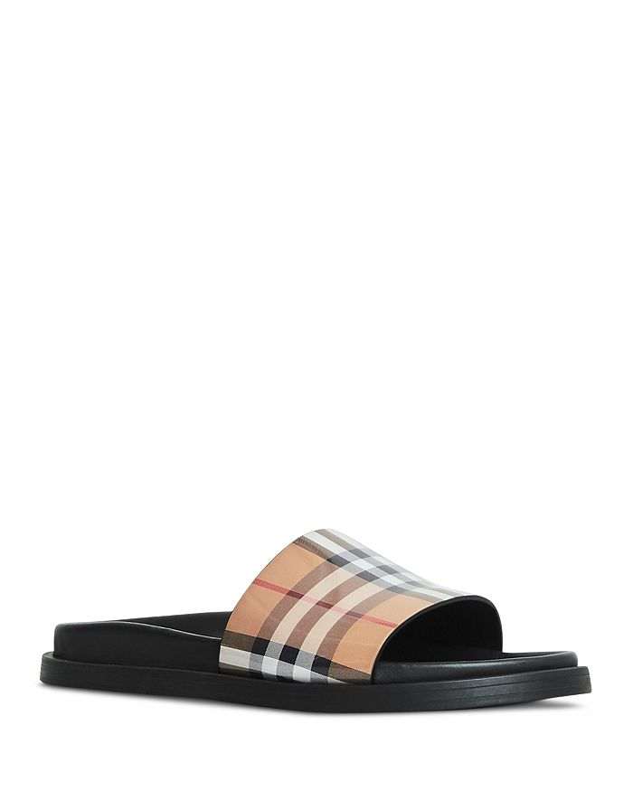 40d0b083052 Burberry Women's Ashmore Vintage Check Pool Slides | Bloomingdale's