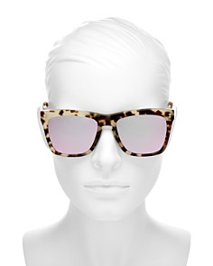 Illesteva - Women's Los Feliz Mirrored Square Sunglasses, 57mm