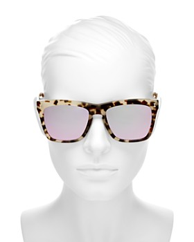 Illesteva - Women's Los Feliz Mirrored Square Sunglasses, 57mm