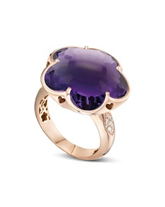 Pasquale Bruni 18K Rose Gold Bon Ton Floral Amethyst & Diamond Ring - Bloomingdale's_0