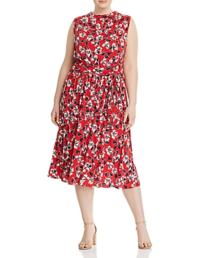 New Leota Plus Mindy Shirred Dress, Marina